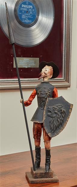 Sale 9097H - Lot 49 - A 1972 Don Quixote Papier mache figure, Height 56cm Provenance .internationa Film Festival.