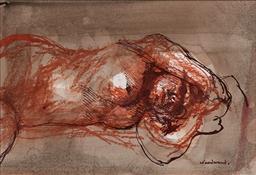 Sale 9161A - Lot 5050 - MARGARET WOODWARD (1938 - ) - Little Nude 14 x 21 cm (frame: 41 x 47 x 3 cm)