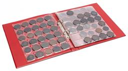 Sale 9190E - Lot 100 - A red coin album cointaining coins and tokens, including pennies