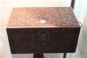 Sale 8285 - Lot 71 - Huanghulai Carved Document Box