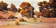 Sale 8323A - Lot 47 - Michael Taylor (1939 - ) - Grazing Cattle 31.5 x 61.5cm