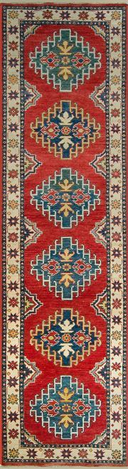 Sale 8353C - Lot 94 - Afghan Kazak Runner 306cm x 78cm