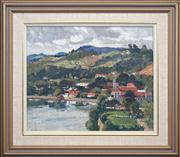 Sale 8420 - Lot 545 - Will Ashton (1881 - 1963) - Harbour Scene 35.5 x 43cm