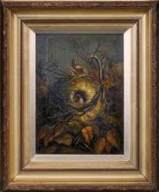 Sale 8427 - Lot 596 - Artist Unknown (XIX) - Robins Nest 29.5 x 20.5cm