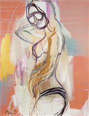 Sale 8722 - Lot 536 - Mia Oatley (1977 - ) - Tangerine Girl 130 x 100cm