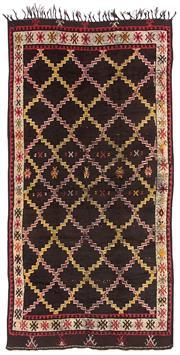 Sale 8725C - Lot 63 - A Vintage Moroccan Berber Carpet, Hand-spun Wool, 276x135cm, RRP $3,200