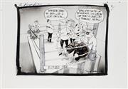Sale 8883A - Lot 5026 - Bill Leak (1956 - 2017) - The Bleak Picture: Howard vs Beazley 28 x 37 cm