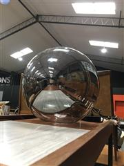 Sale 8859 - Lot 1081 - Lucci Smoky Glass Hanging Light Fitting
