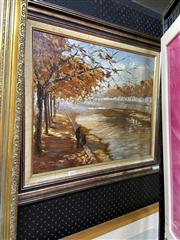 Sale 8891 - Lot 2050 - Artist Unknown - Canal Scene, oil on canvas on board, 61 x 69cm (frame), unsigned