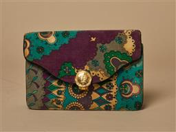 Sale 9093F - Lot 69 - A Rare Vintage Emilio Pucci Fabric clutch photos Sold as is Fair Vintage Condition (please check photos)