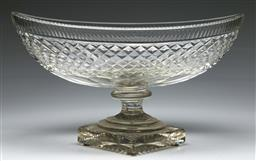 Sale 9138 - Lot 95 - A Large 19th Century Cut Crystal Centre bowl (W:42cm H:23cm)