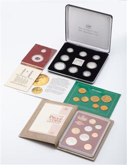 Sale 9190E - Lot 101 - Quantity of four Australian proof coin sets including 1991 masterpieces in silver example