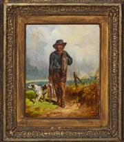 Sale 8358 - Lot 580 - Frederick Woodhouse (1820 - 1909) - The Poacher, 1870 31 x 27cm