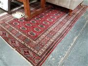 Sale 8697 - Lot 1020 - Small Red Woollen Carpet with Diamond Patterns
