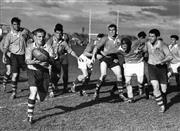Sale 8754A - Lot 90 - Australian 'Wallabies' vs New Zealand 'All Blacks', 1962 - 17 x 22cm