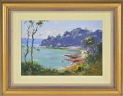 Sale 8323A - Lot 5 - Robert Wilson (1942 - ) - Gunyah Beach, Port Hacking 24.5 x 36cm
