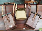 Sale 8451 - Lot 1095 - Pair of Vintage Leather Pouches and Another