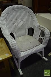 Sale 8523 - Lot 1064 - Wicker Rocking Chair