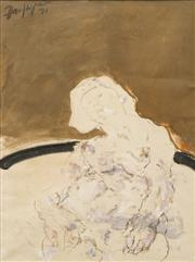 Sale 8642 - Lot 502 - Paul Haefliger (1914 - 1982) - Seated Lady, 1971 50 x 38cm