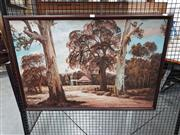 Sale 8699 - Lot 2029 - H. Burn - Cottage Through the Trees, oil on board, SLR