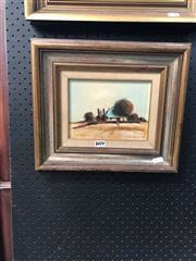 Sale 8865 - Lot 2010 - Eris Fleming, Farmstead oil on board, 31 x 36.5cm, signed lower right