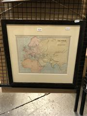 Sale 8903 - Lot 2036 - W.Hughes Map - The World as Known to the Ancients George Philip & Son c.1885