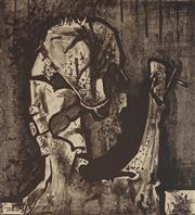 Sale 8916 - Lot 579 - Fred Williams (1927 - 1982) - Stump 48.5 x 45 cm