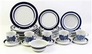 Sale 8997 - Lot 72 - A Collection of Blue and White Arabia Part Dinner Wares