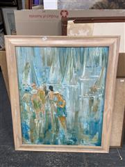 Sale 9028 - Lot 2081 - Marjory Penglase - Sea People 72 x 59.5cm (frame: 86 x 73cm)