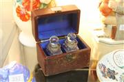 Sale 8314A - Lot 45 - Victorian Cased Travel Perfume Bottle Set