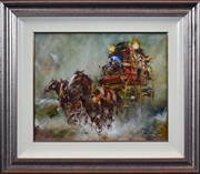Sale 8408 - Lot 528 - Patrick Kilvington (1922 - 1990) - On the Bathurst Run 40 x 50cm