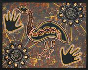 Sale 8478A - Lot 5050 - Lorraine Williams (c1970 - ) - Emu Ceremony 50 x 40cm (stretched & ready to hang)