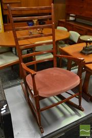 Sale 8511 - Lot 1086 - Vintage Teak Rocking Chair