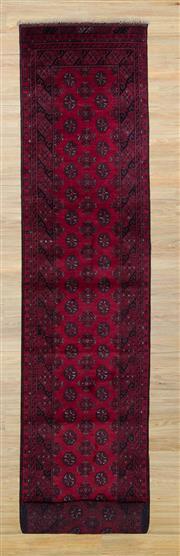 Sale 8559C - Lot 24 - Afghan Turkman Runner 580cm x 80cm