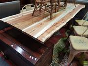 Sale 8637 - Lot 1022 - Timber Dining Table (H: 77 x L: 210 x W: 88cm)