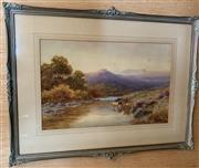 Sale 8510A - Lot 66 - Harold Dawes, On the teign in Devon, watercolour, 29cm x 45cm (some spotting)