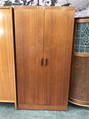 Sale 8839 - Lot 1090 - G-Plan Teak Wardrobe with Two Doors