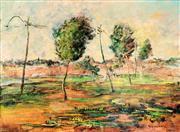 Sale 8787A - Lot 5038 - Sam Fullbrook (1922 - 2004) - Spring on the Footscray Road, 1948 54.5 x 74.5cm