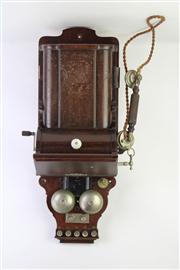 Sale 8818 - Lot 100 - Vintage Commonwealth of Australia PMO Wall Mount Telephone