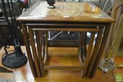 Sale 8287 - Lot 1009 - G-Plan Teak Nest of Tables with Tiled Top