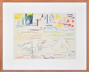 Sale 8339A - Lot 544 - Ken Whisson (1927 - ) - Lightness of Being, 1986 41 x 50cm