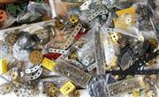 Sale 8376 - Lot 48 - Large Quantity of Meccano; gears, pulleys, plates, chains, sprockets, screws, nuts, bolts, hinges, rods, brackets, fishplates, crank...