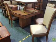 Sale 8495F - Lot 1047 - Art Deco 7 Piece Dining Suite
