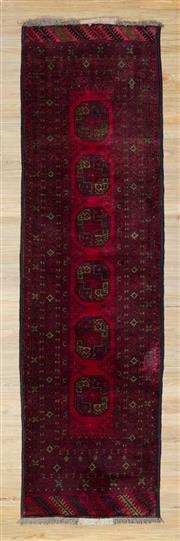 Sale 8559C - Lot 25 - Afghan Turkman Runner 300cm x 80cm