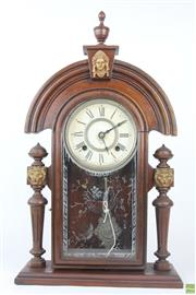 Sale 8578 - Lot 11 - Ansonia Mantle Clock, with Pendulum & Key