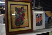 Sale 8592 - Lot 2078 - 2 Framed Pictures