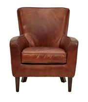 Sale 8651A - Lot 24 - A pair of mid-century hand aged vintage leather armchairs, H 93 x W 77 x D 76cm