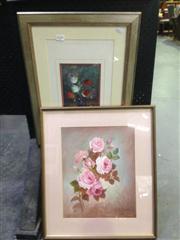 Sale 8663 - Lot 2030 - 2 Works: Stephen Tandori - Still Life, Oil, SLR & A.Townsend - Still Life Roses, Oil on Board, SLR
