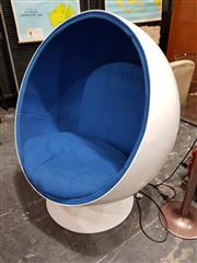 Sale 8805 - Lot 1062 - Eero Aarnio Style Ball Chair with Blue Upholstery