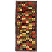 Sale 8830C - Lot 30 - A Persian Vintage Nomadic Gabbeh in Handspun Wool 207x86 cm